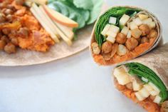 Don't bury sweet potatoes under fucking marshmallows. Make these Sweet Potato Chickepea Wraps instead