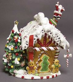 Gingerbread House Cookie Jar - Boxed in the Holiday Heirloom Cookie Jars pattern by Waterford China