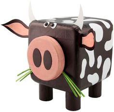 Professora Juce: Vaca feito com material reciclável para Educação Infantil