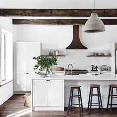 kitchen beams.