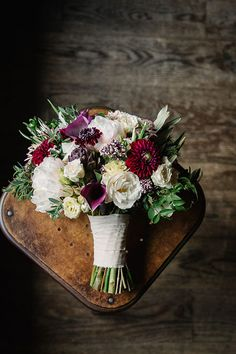 Wine Colored Wedding Bouquet | Brides.com