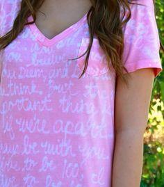 Watermarks Shirt Using Elmer's Glue & Dye. So Cool! #Fashion #Beauty #Trusper #Tip