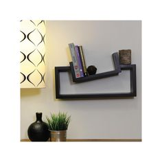 nexxt Slant Wall Shelf, Black
