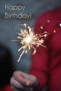 happy birthday wish sparkle