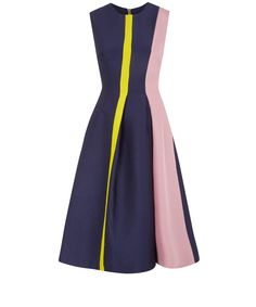 Roksanda Ilincic Navy Colour Block Fit and Flare Dress Dresses Uk, Pretty Dresses, Beautiful Dresses, Dresses For Work, Frock Design, Fit And Flare, Color Blocking, Colour Block, Fashion Fail