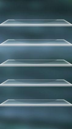 ガラスの棚