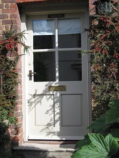 Front Door Paint Colors, Exterior Paint Colors For House, Painted Front Doors, Porch Doors, Front Doors With Windows, Back Doors, House Front Door, House Doors, House Entrance