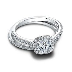 Tate Round Engagement Ring - Round and ravishing. Tate's fishtail setting showcases your round center diamond with wonderful light and presence. Its cushion shaped halo creates a fascinating contrast. Can be custom made to fit any shape center stone. Jeff Cooper, Diamond Glitter, Engagement Rings Round, 18k Gold, Wedding Bands, Stone, Jewelry, Diamonds, Spiritual Healer