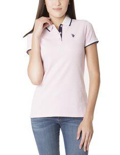#US Polo Association - #US Polo Association U.S. Polo Assn. Small Logo Dot Polo Shirt Pink Lady - Size S - AdoreWe.com