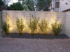 lighting near fence - Might work for the backyard pool area.