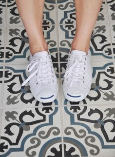 jack purcell + white converse