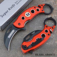 6 Emt Paramedic Karambit Spring Assisted Open Rescue Pocket Knife Ems 597em-