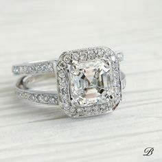 Wedding Rings – Page 7 – Modern Jewelry Asscher Cut Diamond Engagement Ring, Dream Engagement Rings, Vintage Engagement Rings, Vintage Rings, Contemporary Engagement Rings, Modern Jewelry, Diamond Cuts, Wedding Rings, Vintage Inspired