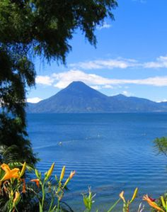 Lake Atitlan, Guatemala. We'll be going to a little town called Panajachel on the shore of this lake, and maybe go for a boat ride!
