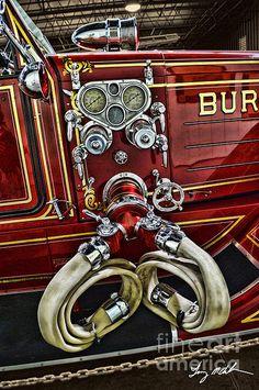 American La France Pumper Photograph  - American La France Pumper Fine Art Print