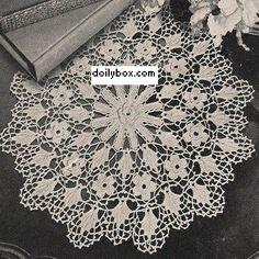 Free Crochet Irish Rose Doily Pattern