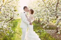 Door County Spring Cherry Blossom & Navy Uniform Wedding Sneak Peek.    Photos by Jason Mann Photography ~ http://www.jmannphoto.com ~ 920-246-8106