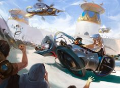Ovalchase Dragster - Kaladesh MtG Art