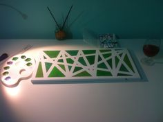 #fifty shades of green #canvas art #diy #easy way to making canvas art #triangles #just for relax