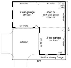 Craftsman Style House Plan   2 Beds 1 Baths 1207 Sq/Ft Plan #56 617 Floor  Plan   Main Floor Plan   Houseplans.com | Garage | Pinterest | House Plans,  ...