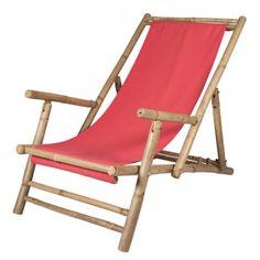Bambusstol, Relax, fra Broste, rød