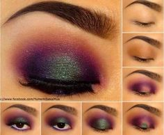 Eye Makeup Tips.Smokey Eye Makeup Tips - For a Catchy and Impressive Look Beauty And More, All Things Beauty, Beauty Make Up, Green Eyeshadow, Eyeshadow Looks, Eyeshadow Steps, Eye Makeup, Makeup Tips, Makeup Ideas