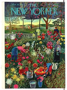 #papercraft #MagazineMondays #inspiration. The New Yorker, September 28, 1946 - Ilonka Karasz