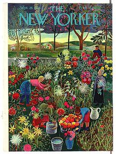 #papercraft #MagazineMondays #inspiration. The New Yorker, September 28, 1946 - Ilonka Karasz