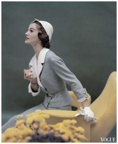 vintage fashion skirt suit