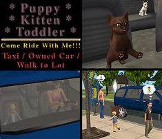 The Sims 2 | dh: Allow puppy kitten toddler riders (toddlers on community lots mod)