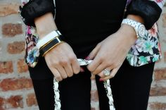 Two things I love Chanel watch and our @tplusjdesigns square bangles