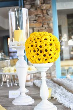 Little Big Company   The Blog: The Couple Tie The Knot at a An Island Wedding with pops of Yellow and nautical ropes by Rock, Paper Scissors
