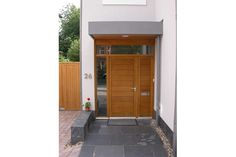 Westgate Joinery can design and manufacture your timber front doors in a modern or contemporary style to suit the look and feel of your property  sc 1 st  Pinterest & Like house render and front door and timber on the underside of the ...