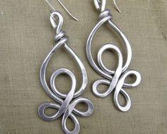 Celtic knot wire earrings