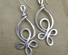 RESERVED for Coday and petunia - 1 single Celtic Knot Loops Unique Big Aluminum Earring - Very Big Earrings Light Weight Aluminum