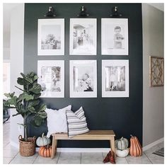 What You Should Do to Find Out About The Best Living Room Wall Decor Everyone Love Before You're Left Behind A range of family photos and lettered sig. Entryway Wall Decor, Room Wall Decor, Room Interior, Interior Design Living Room, Home Living Room, Living Room Decor, Gallary Wall, Family Room Walls, Navy Walls