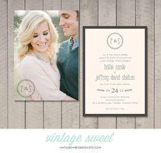 Wedding Invitation (Printable) DIY by Vintage Sweet by vintagesweetdesign on Etsy https://www.etsy.com/listing/193625519/wedding-invitation-printable-diy-by