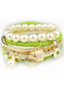 Green Multilayer Weave Bracelet