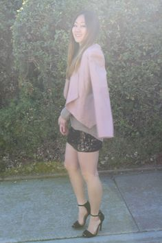 Blush and sequin