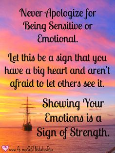 Showing Your Emotions is a Sign of Strength #quote