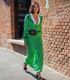 Gucci handbags: Tiffany Hsu wearing the Gucci belt bag