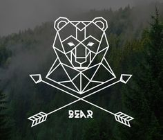 simplistic bear logo More - Logos Bear Tattoos, Arrow Tattoos, Animal Tattoos, Tatoos, Modern Tattoos, Trendy Tattoos, Simplistic Tattoos, Bear Logo, Bear Art