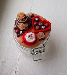 """Баночка с декором """"С Любовью..."""" – купить в интернет-магазине на Ярмарке Мастеров с доставкой"""