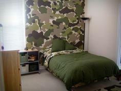 how to paint camouflage wall