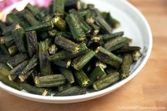 Oven Roasted Okra | InSearchOfYummyness.com
