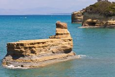 Sidari beach is long, sandy and well organized. Located right next to the famous Canal d' amour. https://greece.terrabook.com/corfu/page/sidari-beach #Greece #Corfu #terrabook #GreekIslands #TravelTips #Travel #GreeceTravel #GreekPhotos #Traveling #Travelling #Holiday #Summer