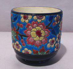 Antique Art Deco Longwy Vase or Cache Pot | eBay
