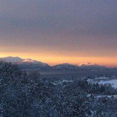 Blåtimen i Sykkylven. #sykkylven #ilovenorway #ilovenorway_møreogromsdal #instagramhub  #igdayly #bestoftheday #webstagram #picstitch #instagramers #nature sunset #instahub #clouds #amazing #textgram #all_shots #instalove  #igaddict #white #instago #Ignation #snow #iphone4