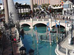 Canal do Hotel Venetian, em Las Vegas. Foto de Cristina Sueta.