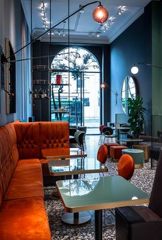Interior luxury bar design made to impress and inspired you Architecture Restaurant, Luxury Restaurant, Restaurant Lounge, Bar Lounge, Interior Architecture, Bar Interior Design, Restaurant Interior Design, Cafe Interior, Cafe Design